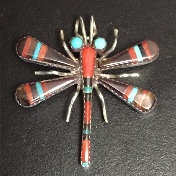 ee55bd4debd Zuni Jewelry | Host Pick Inlay Dragonfly Pinpendant | Poshmark